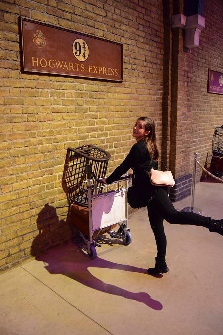 Going through wall on a platform 9 3/4!