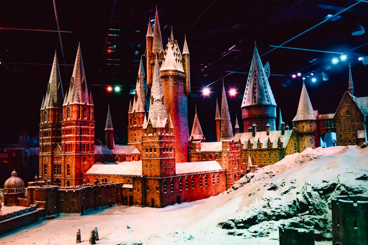 V svetu Harry Potterja - maketa bradavičarke