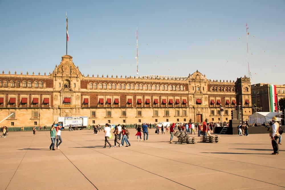 Palacion Nacional on Zocalo