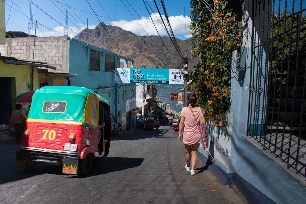 Colorful tuk-tuk in San Pedro La Laguna