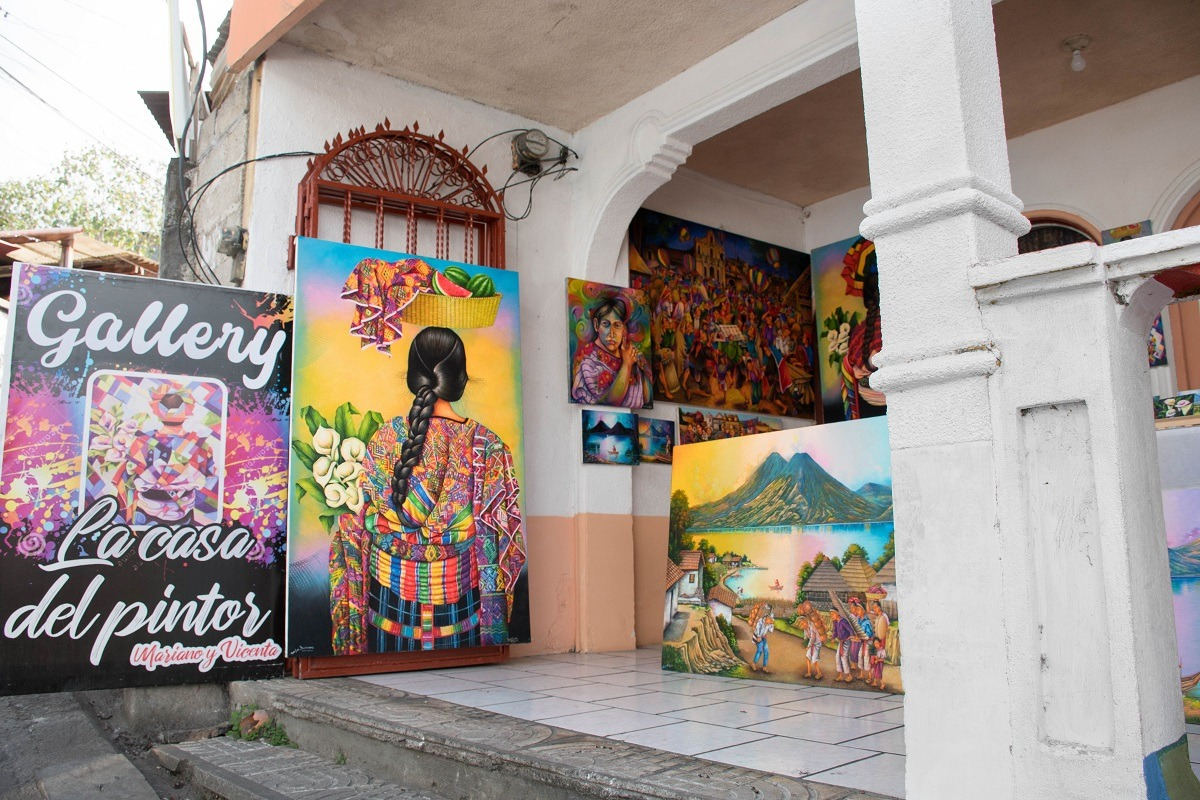 Shops in San Pedro, Guatemala