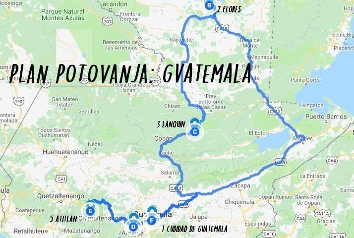 Plan potovanja: Gvatemala