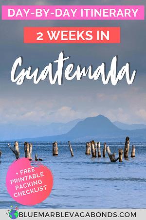 Guatemala Itinerary Pin