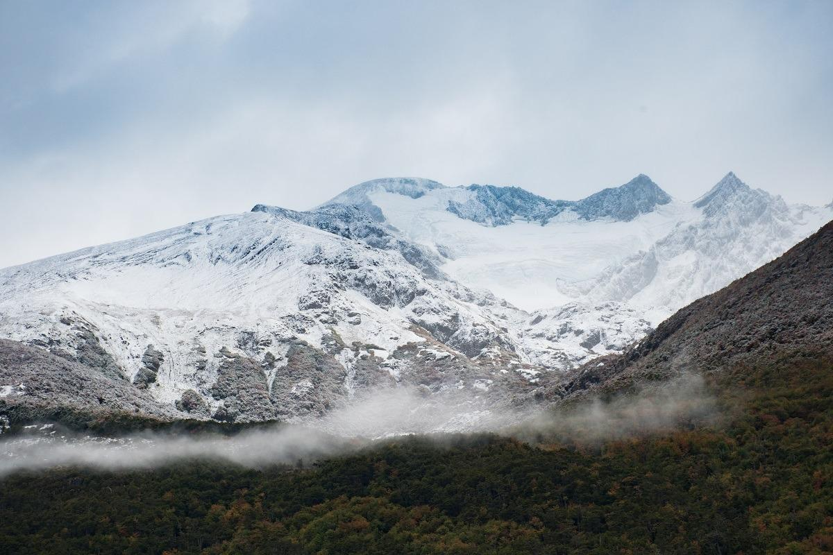 Mountains with a glacier (hiking in Ushuaia)