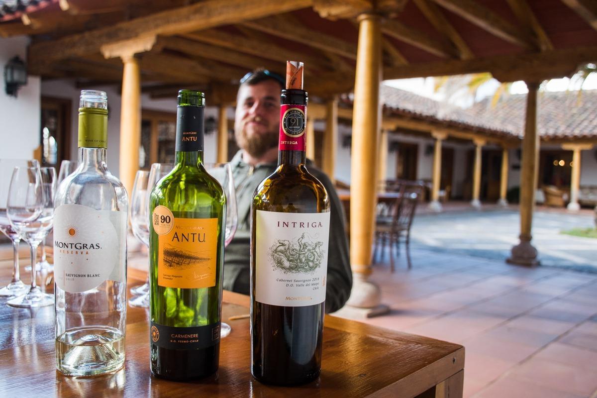 Vina, ki smo jih degustirali v vinski kleti Mont Gras