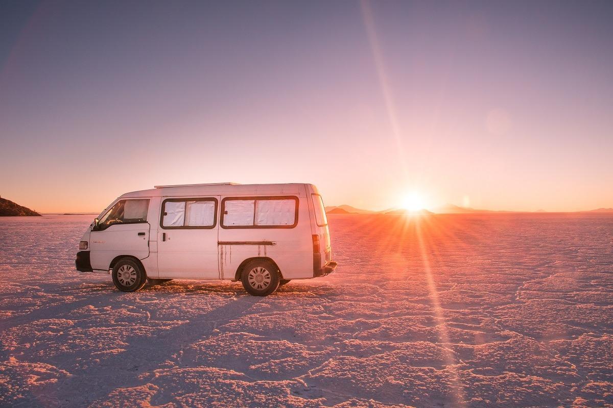 Stroški potovanja za Bolivijo - avto. Pisco v slani puščavi