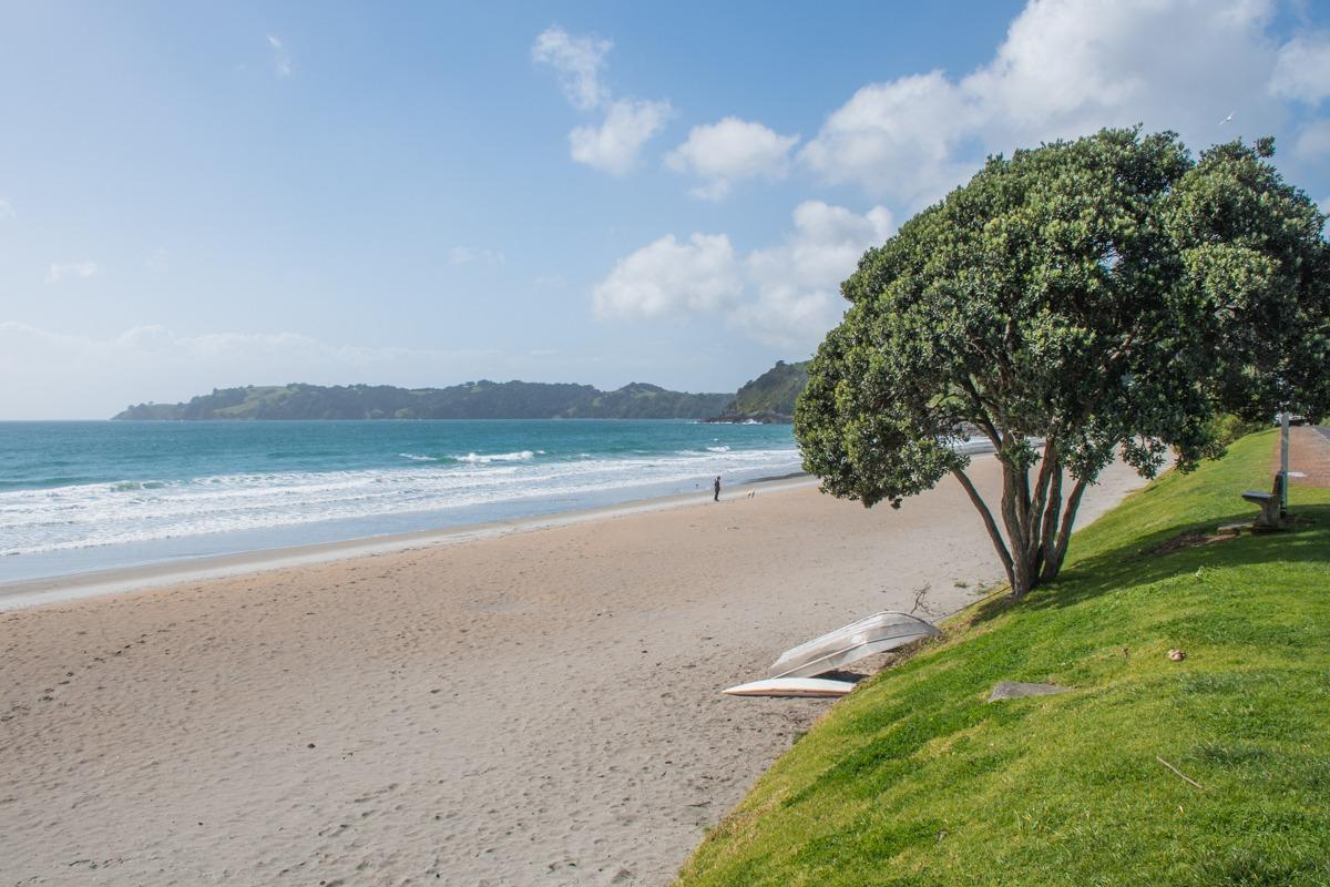 Onetangi beach on Waiheke Island