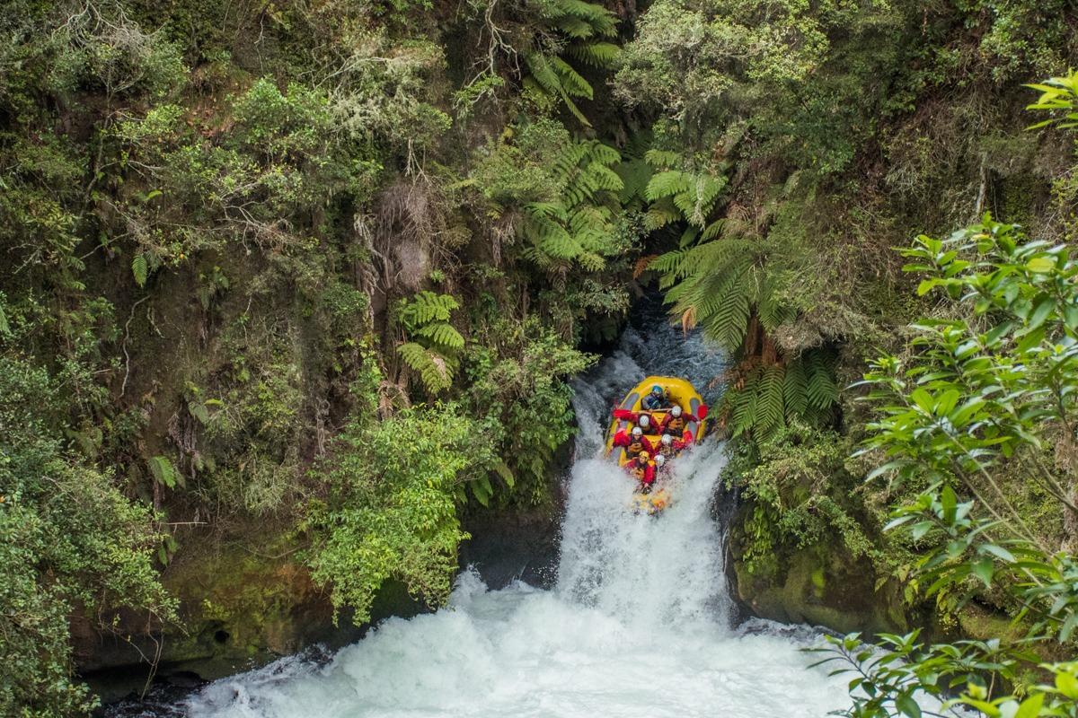 White water rafting in Rotorua