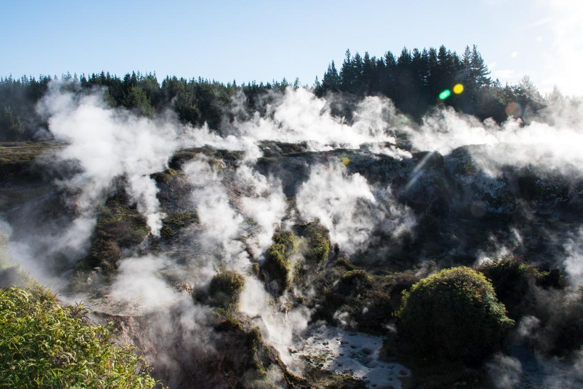 Craters of the moon geothermal park - moon like surface