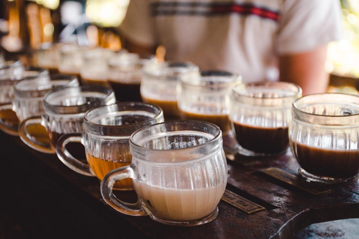 Pokušina kavic v Ubudu