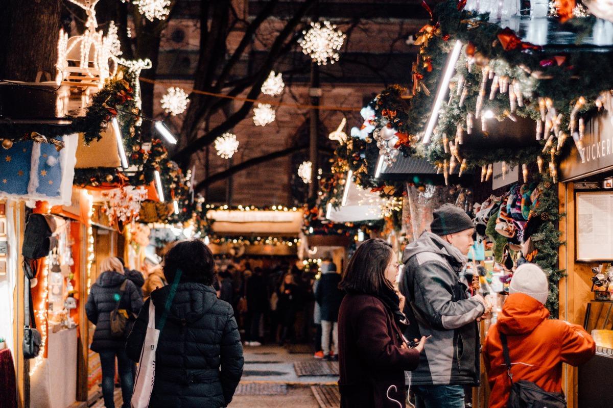 Hišice - božični sejem v Baslu