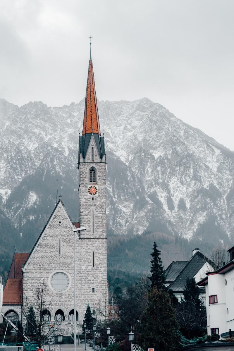 Cerkvica v Vaduzu, Liechtenstein