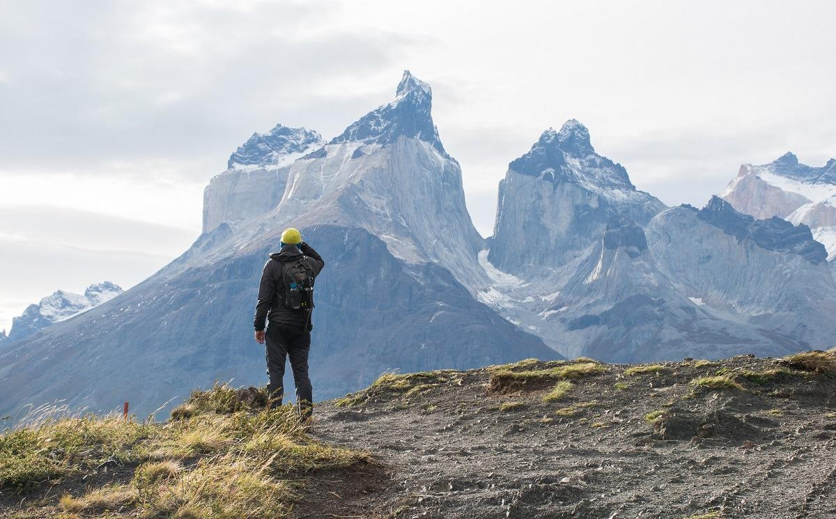 Bojan and Torres del Paine in the distance