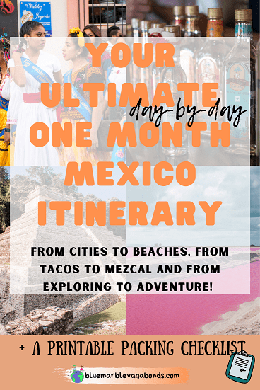 Pin for One Month Mexico Itinerary