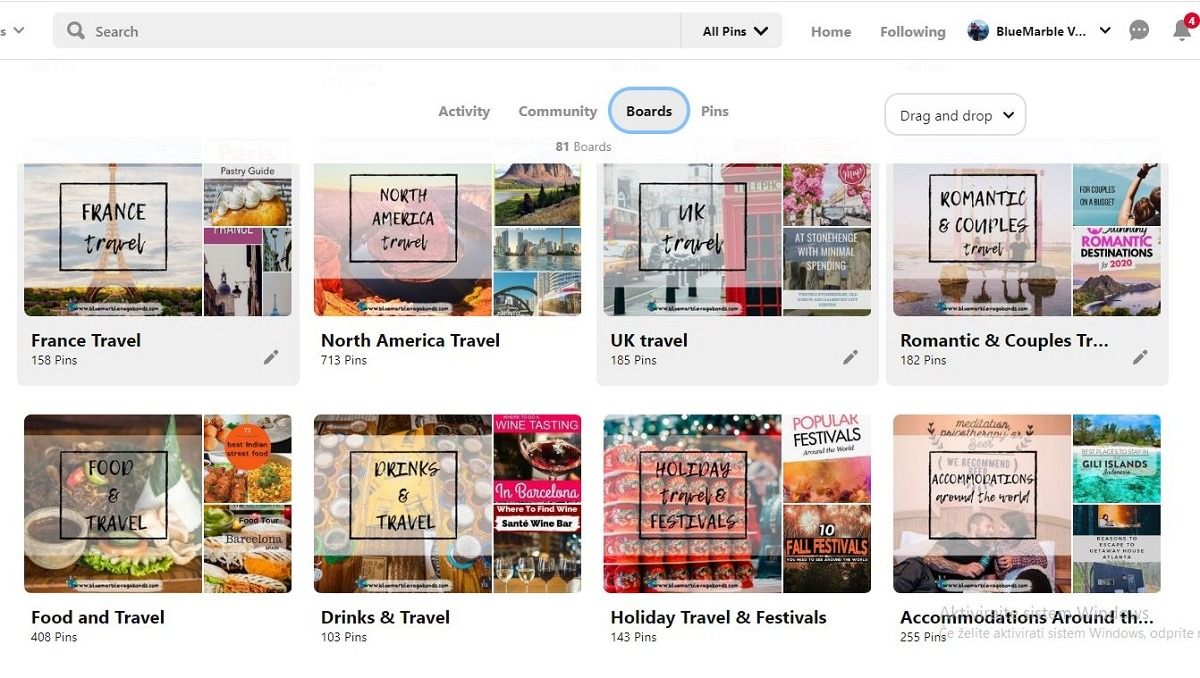 Inspiration boards Pinterest - fuel your wanderlust from home