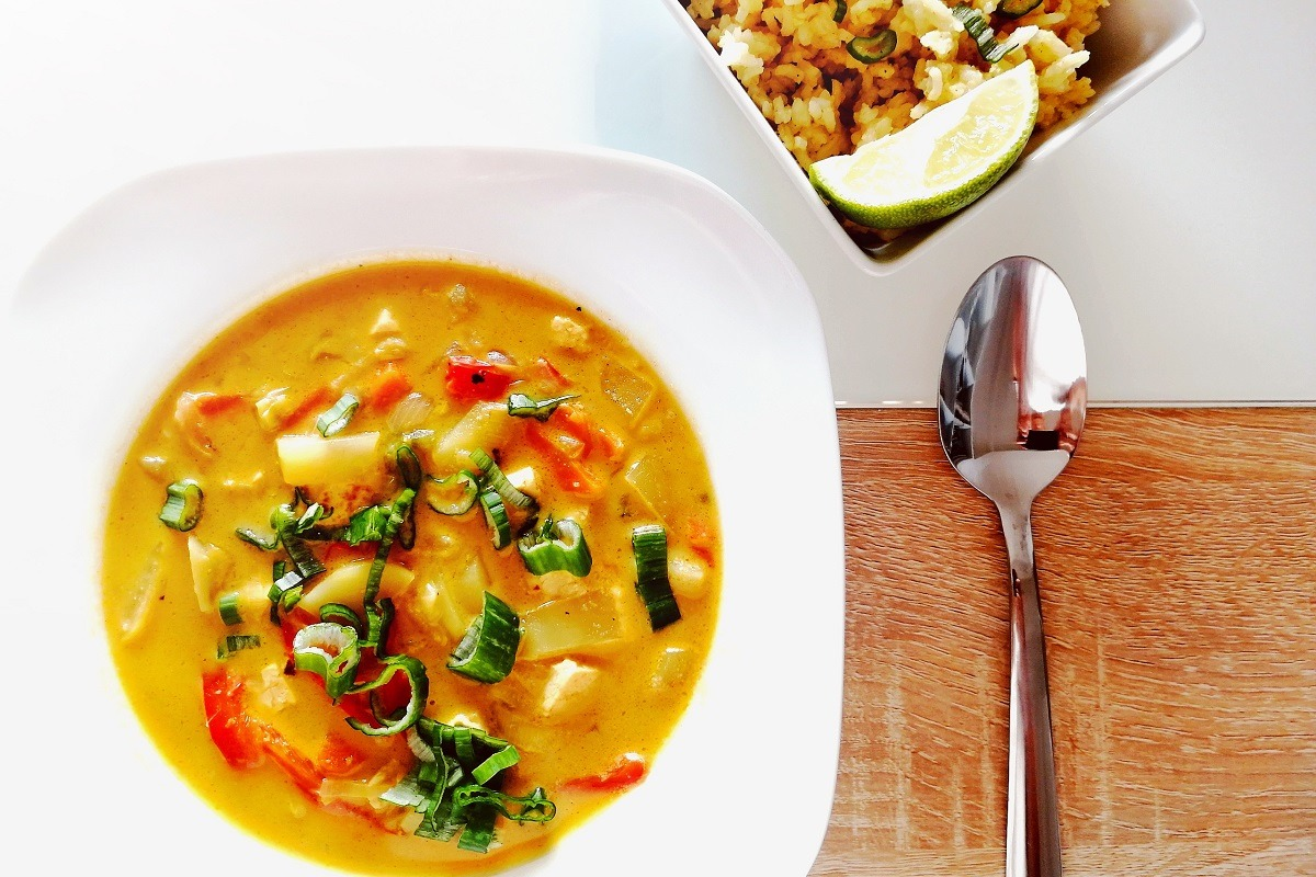 Thai Curry on a plate (fuel your wanderlust at home)