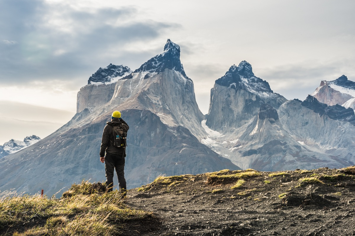 Looking at Cuernos del Paine