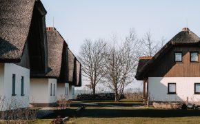 Traditional houses in Prekmurje region, Slovenia