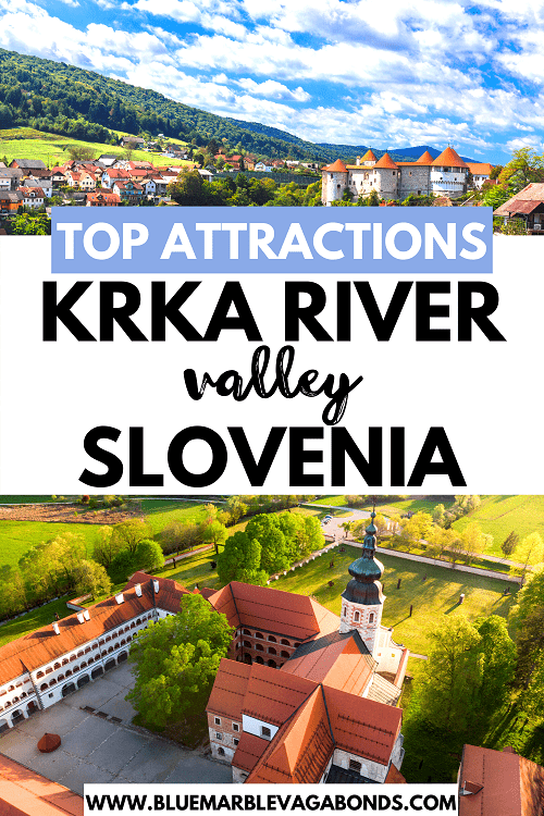 Krka river Slovenia top attractions pin