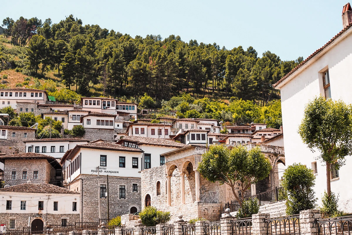 Old houses in Berat city in Albania, a UNESCO heritage site