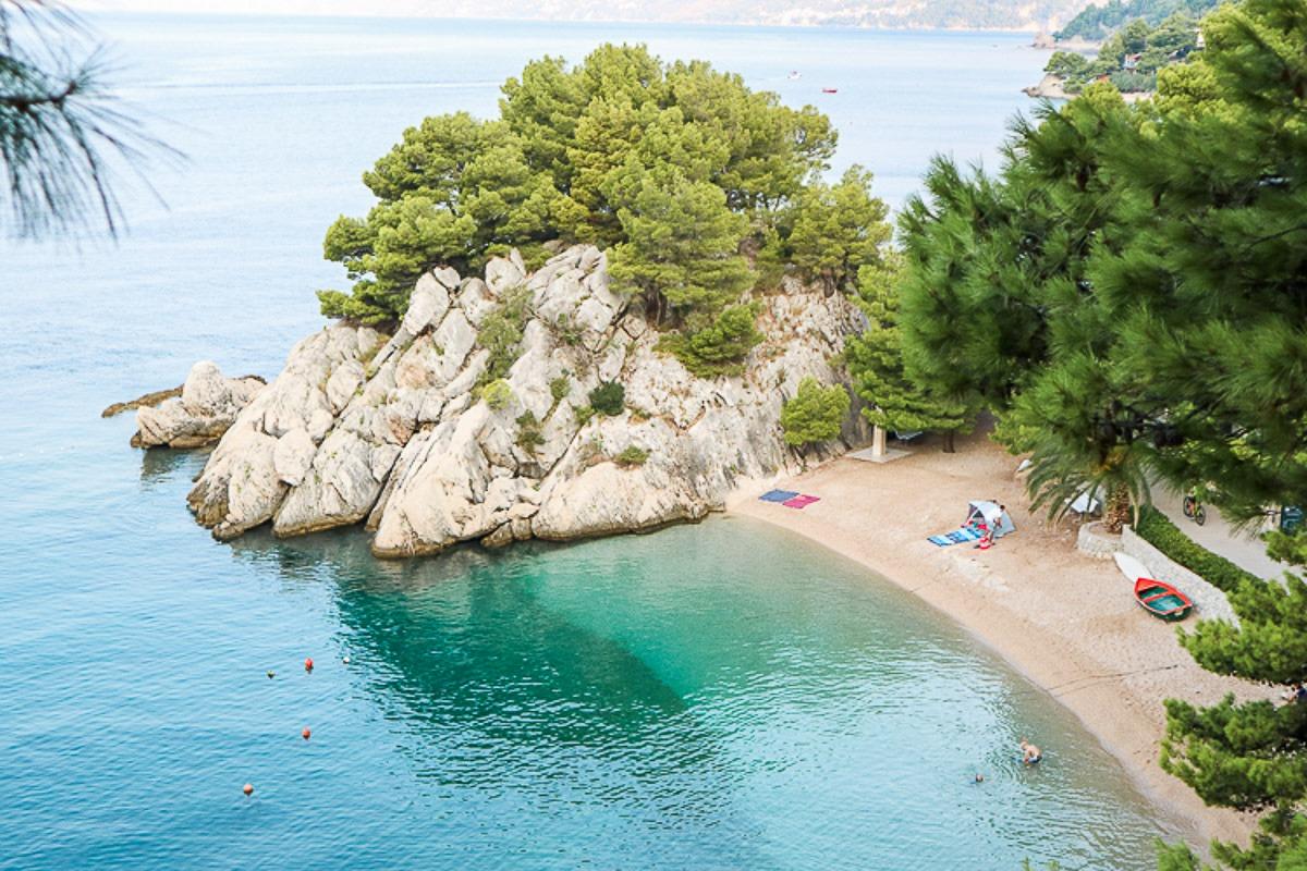 Beach in Brela, Croatia