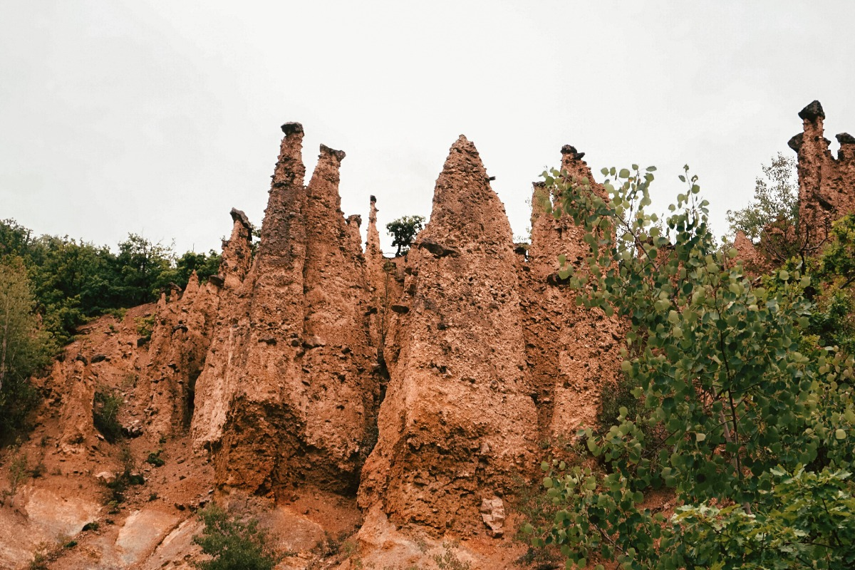 Rock fomations in Devils Town in Serbia
