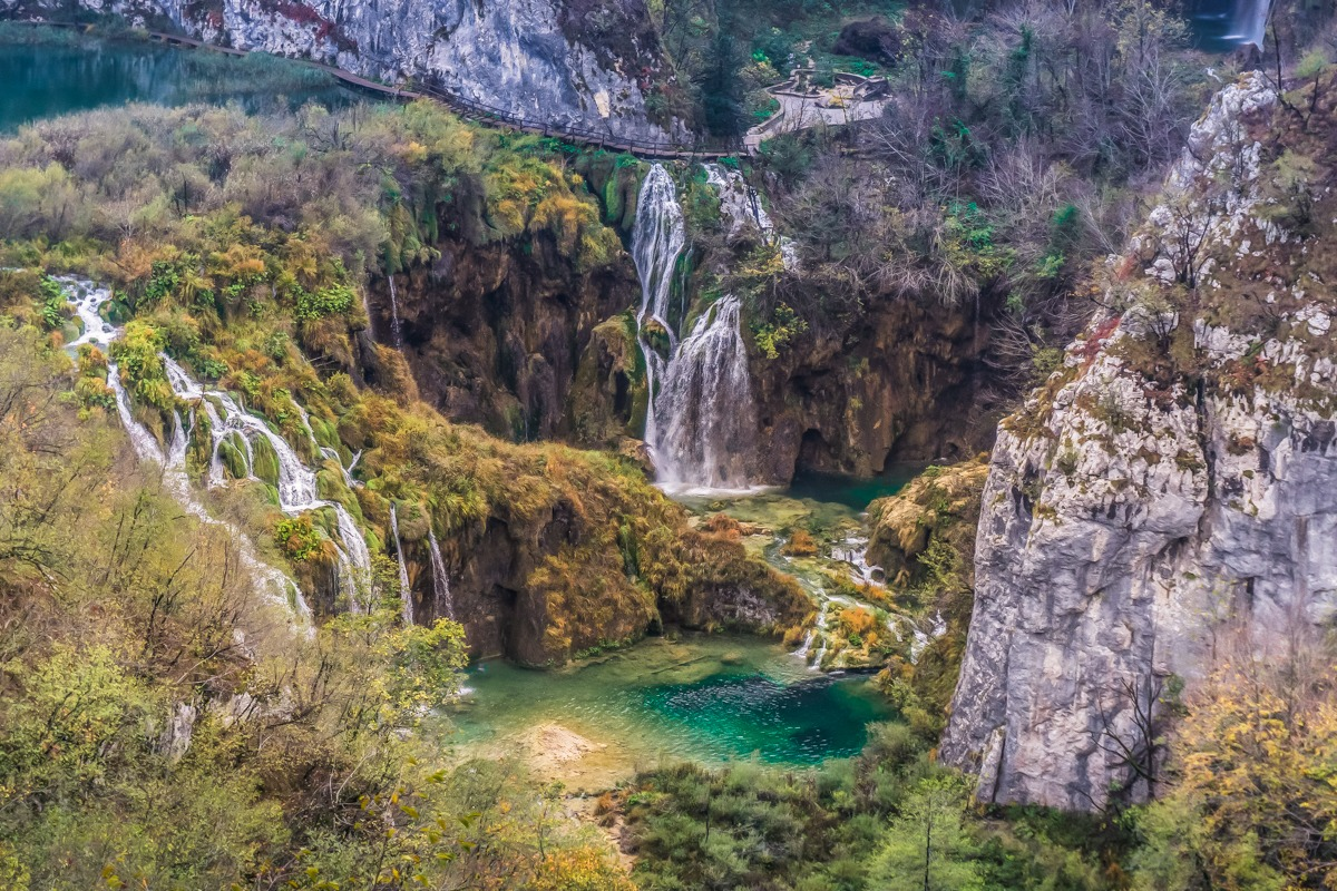 Plitvice Lakes and waterfalls are one of the highlights of a Balkan trip