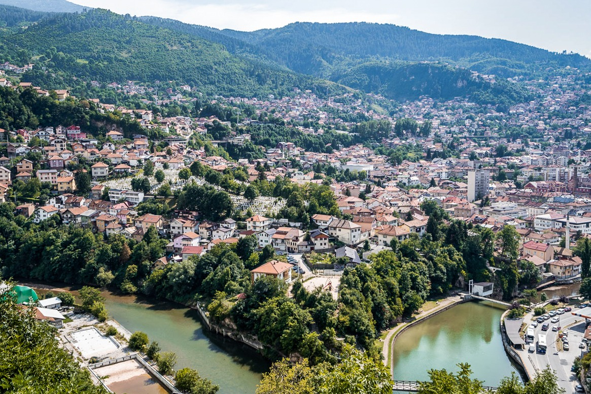 Sarajevo, the capital of Bosnia and Herzegovina and one of the must-see places on a Balkan road trip