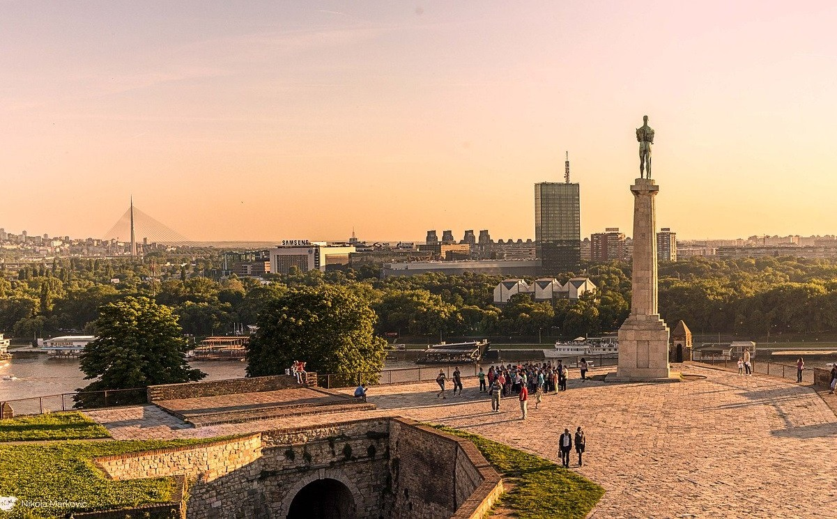 Belgrade fortress at the sunset (must see places in the Balkans)