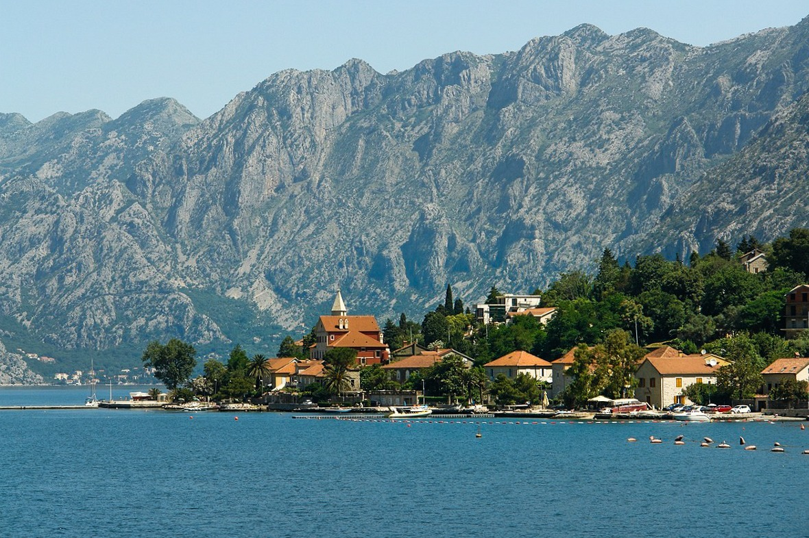 Kotor village in the Kotor bay, Montenegro