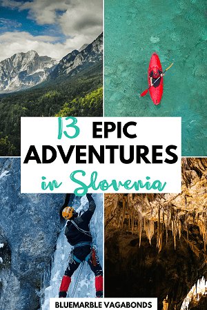 Outdoor adventures in Slovenia pin