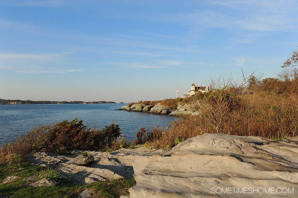 Beach and cliffs in Newport, RI