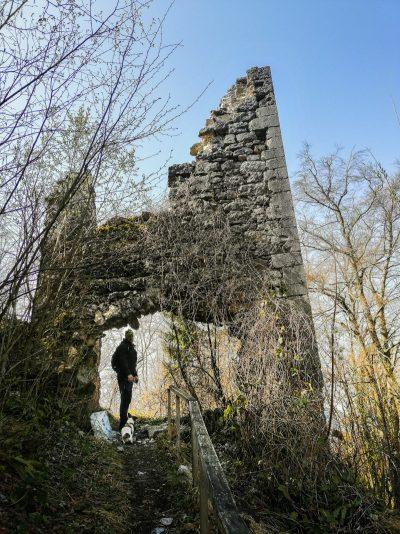 Razvaline gradu Višnja Gora - ena izmed znamenitosti Dolenjske