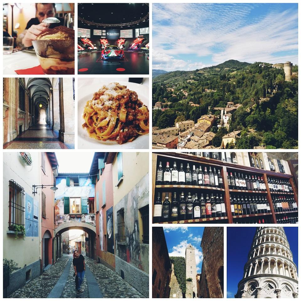 italija kolaž fotografij